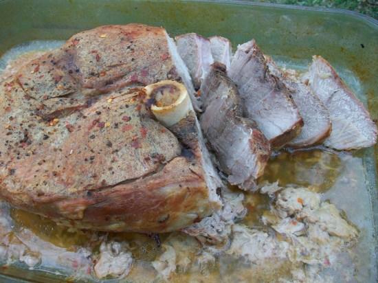 """Slice ham or shred for """"pulled pork"""""""