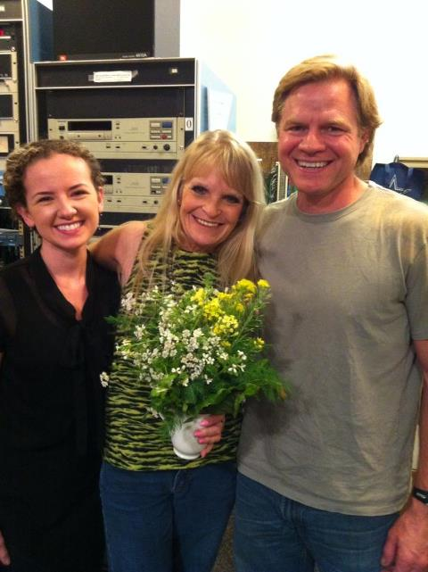 Justin and Kayla with Liz Laubach in the Studio