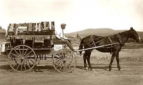 Farmer Taking Produce to Town in San Ysidro, CA (photo courtesy sandiegohistory.org)