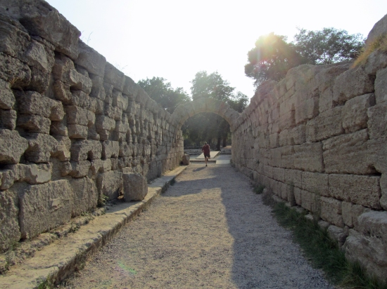 The Entrance to the Stadium at Ancient Olympia