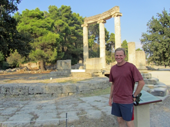 Justin at a Temple to Zeus