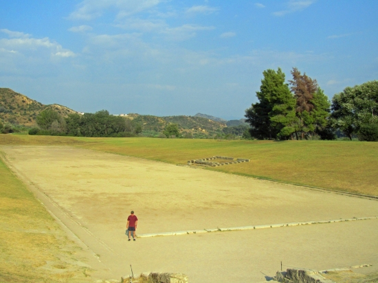 The Olympic Stadium, Ancient Olympia, Greece