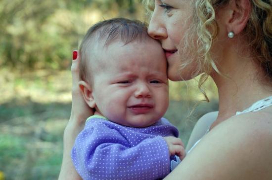 Emma Crying with Kayla 3-20-14