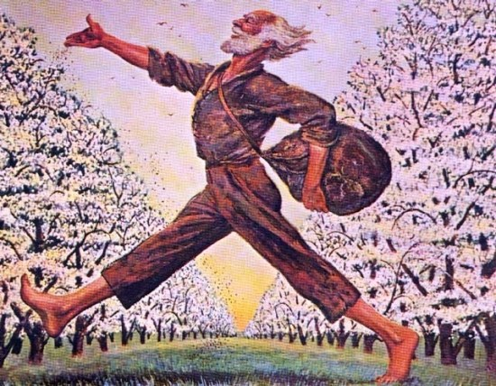 Johnny Appleseed from a Post Card