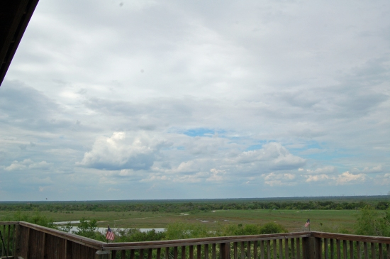 (A Sky View from Hazel Bazemore Park in Corpus Christi)