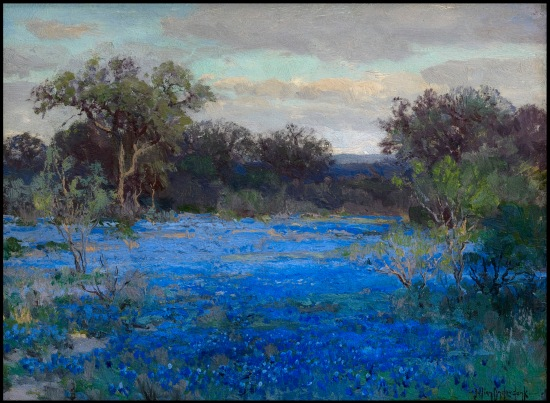 (Bluebonnets, Robert Julian Onderdonk.  Courtesy Art Museum of South Texas)