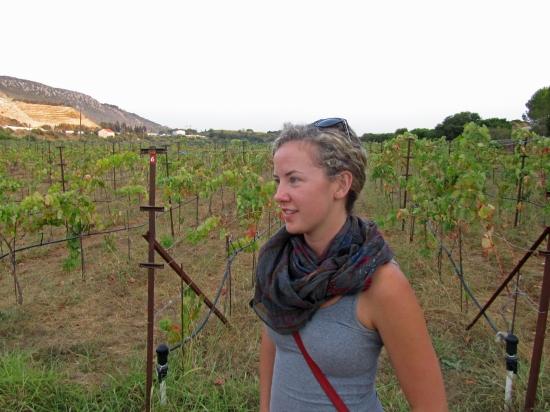 (Kayla in Vineyard in Cephalonia)