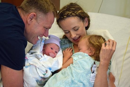 Justin Kayla Emma Maddie just born
