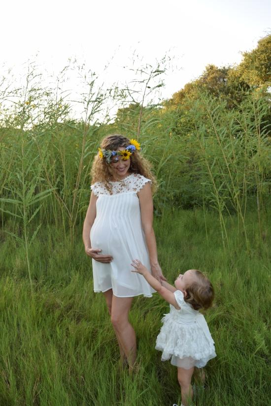 Maddie Maternity Emma reaching 9-7-15